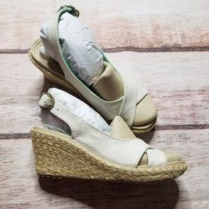 Crocs Linen Wedge Sandals